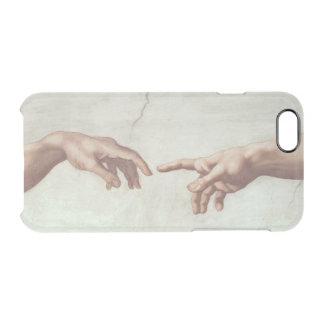Hände des Gottes und des Adams Durchsichtige iPhone 6/6S Hülle
