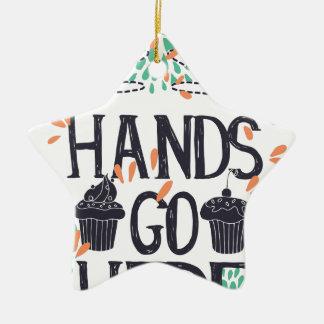Hände gehen hier keramik ornament