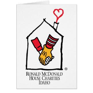 Hände Ronald McDonald Karte