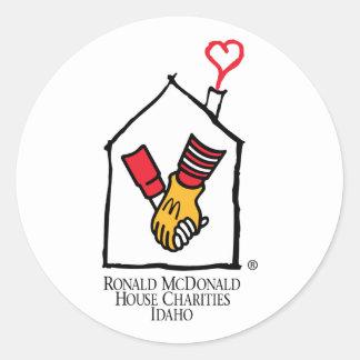 Hände Ronald McDonald Runder Aufkleber