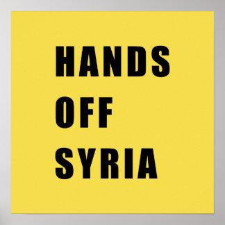 Hände vor Syrien Poster