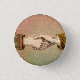 Händedruck 1 Zoll-runder Knopf Runder Button 3,2 Cm