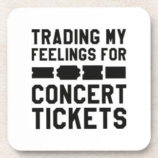 Handel meiner Gefühle für Konzert-Karten Getränkeuntersetzer