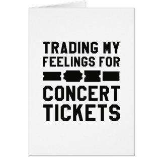Handel meiner Gefühle für Konzert-Karten Karte