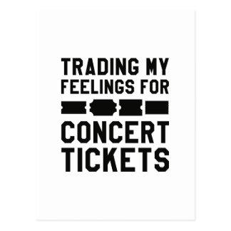 Handel meiner Gefühle für Konzert-Karten Postkarte