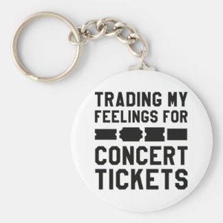 Handel meiner Gefühle für Konzert-Karten Schlüsselanhänger