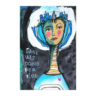 Handeln der Zeit Jane Leinwanddruck