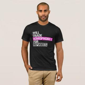 Handelt Homophobes für Flüchtlinge -- - LGBTQ Righ T-Shirt