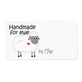 Handgemacht für Mutterschaf-Geschenk-Aufkleber