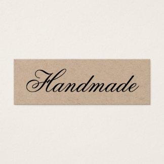 Handgemachte elegante Vintage braune Mini Visitenkarte