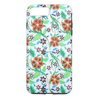 Handgemachter, BlumenWirbel multi Farben, süß iPhone 8 Plus/7 Plus Hülle