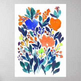 handgemalte Blumen 3 Poster