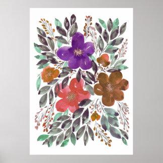 handgemalte Blumen 3b Poster