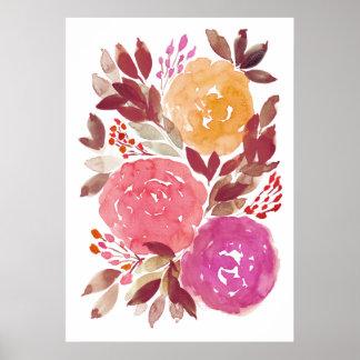 handgemalte Blumen 3c Poster