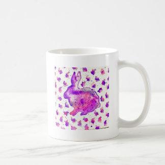 Handgemalte lila Häschen-Tasse Kaffeetasse