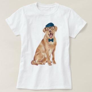 Handgemalter Hipster-Labrador-Hund T-Shirt