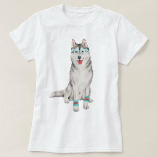 Handgemalter Hipster-sibirischer T-Shirt