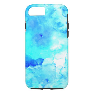 Handgemaltes Aquarell des Sommers modernes blaues iPhone 7 Hülle