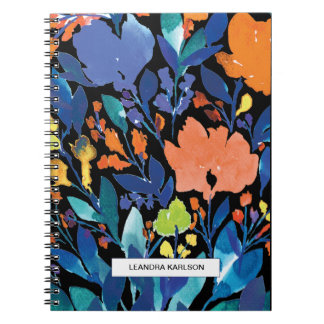 handgemaltes Blumennotizbuch Notizblock