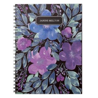 handgemaltes Blumennotizbuch Spiral Notizblock