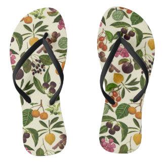 Handgemaltes buntes rustikales tropische flip flops
