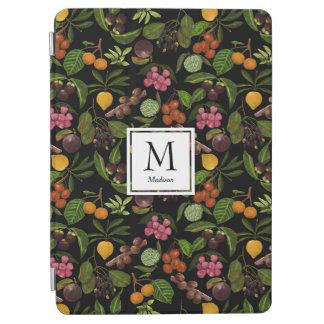 Handgemaltes exotisches tropische Frucht-Monogramm iPad Air Hülle