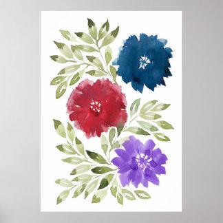 handgemaltes flowers2d poster