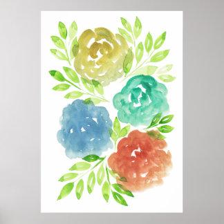 handgemaltes flowers2f poster
