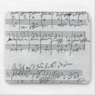 Handgeschriebene Partitur Mauspads