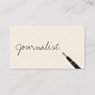 Handgeschriebene Skript Journalist Visitenkarte Visitenkarte
