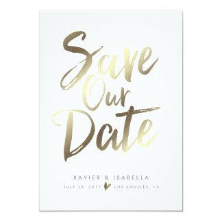 Handgeschriebene Skript-Save the Date Mitteilung 12,7 X 17,8 Cm Einladungskarte