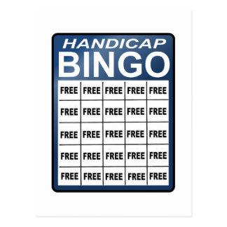Handikap-Bingo Postkarten