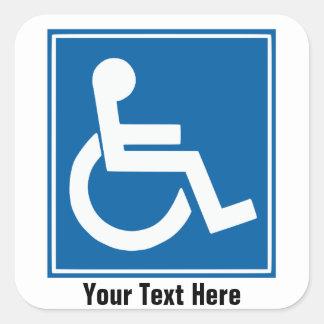 Handikap-Zeichen-Aufkleber/Aufkleber Quadratischer Aufkleber