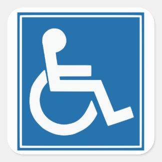 Handikap-Zeichen-Aufkleber Quadrat-Aufkleber