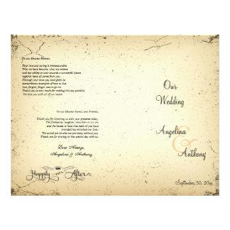 Handlungs-formales Hochzeits-Programm Flyer
