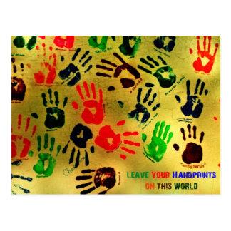 Handprints Postkarte