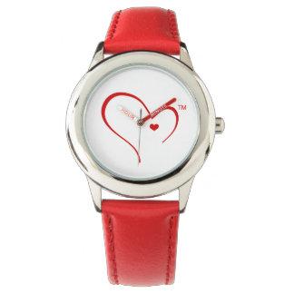 Handschuhe für Detroit-Herz-Logo-Armbanduhr Uhr