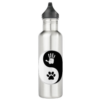 HandToPaw Yin-Yang Wasser-Flasche (24 Unze) Edelstahlflasche