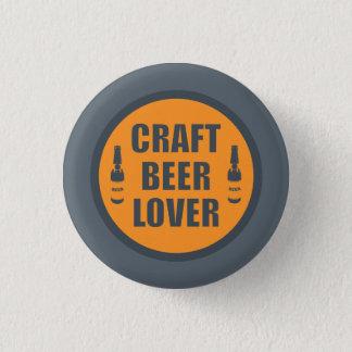 Handwerks-Bier-Liebhaber 2 Runder Button 3,2 Cm
