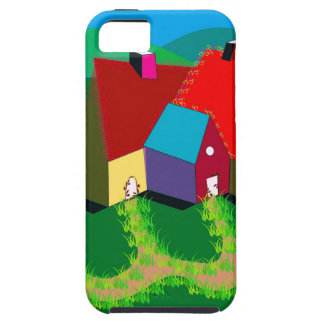 Handy-Fall mit Volkskunst iPhone 5 Schutzhülle