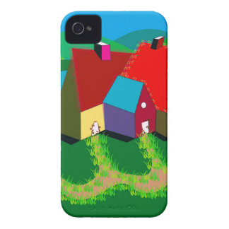 Handy-Fall mit Volkskunst iPhone 4 Cover