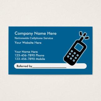 Handy-Service-Empfehlungs-Visitenkarten Visitenkarten