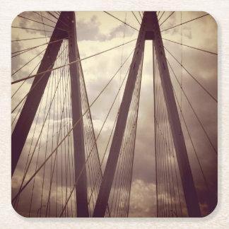Hängebrücke Kartonuntersetzer Quadrat