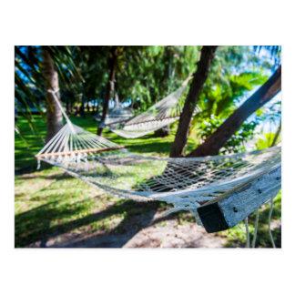 Hängematte auf dem Strand, Fidschi Postkarte