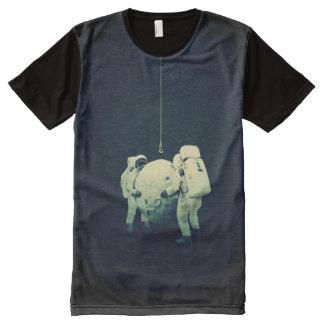 Hängen des Mondes T-Shirt Mit Komplett Bedruckbarer Vorderseite
