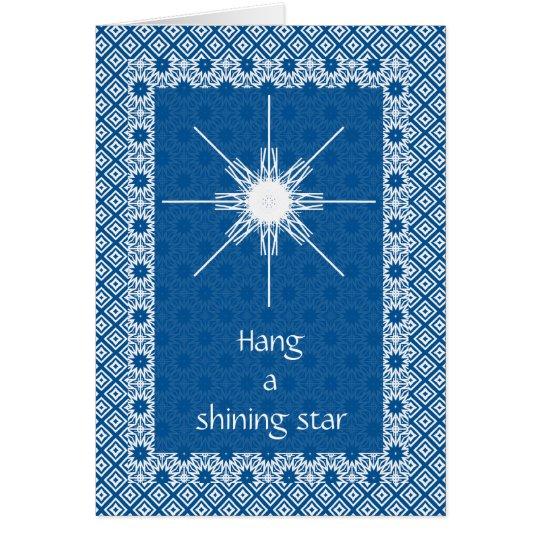 Hängen Sie einen glänzenden Stern Karte