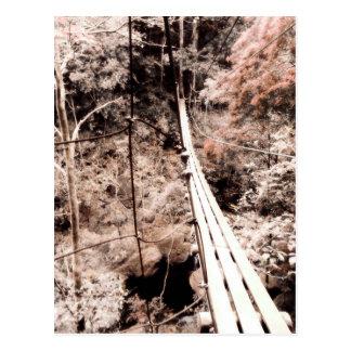 hängende Brücke Postkarte