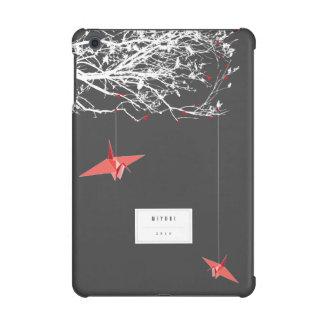 Hängender Origami Papierkran-Niederlassungen iPad