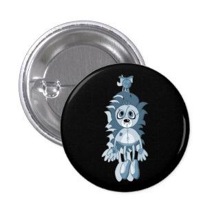 Hängendes Teddybär-Blau Runder Button 2,5 Cm