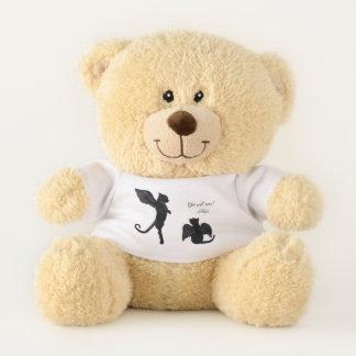 Hank und Sue die Schwarzes Winged Katzen Teddybär